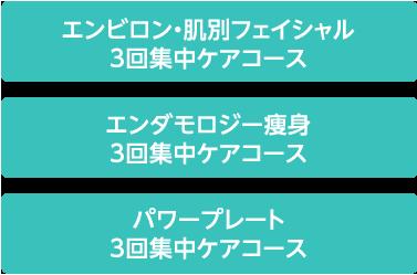 エンビロン・肌別フェイシャル3回集中ケアコース